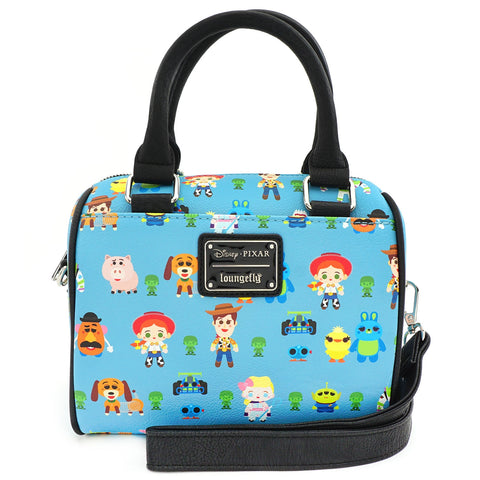 Loungefly x Toy Story Chibi Print Faux Leather Duffle Bag