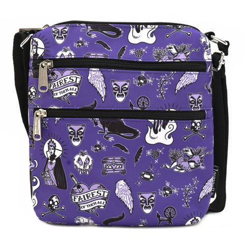 LOUNGEFLY X DISNEY VILLAIN NYLON PASSPORT BAG