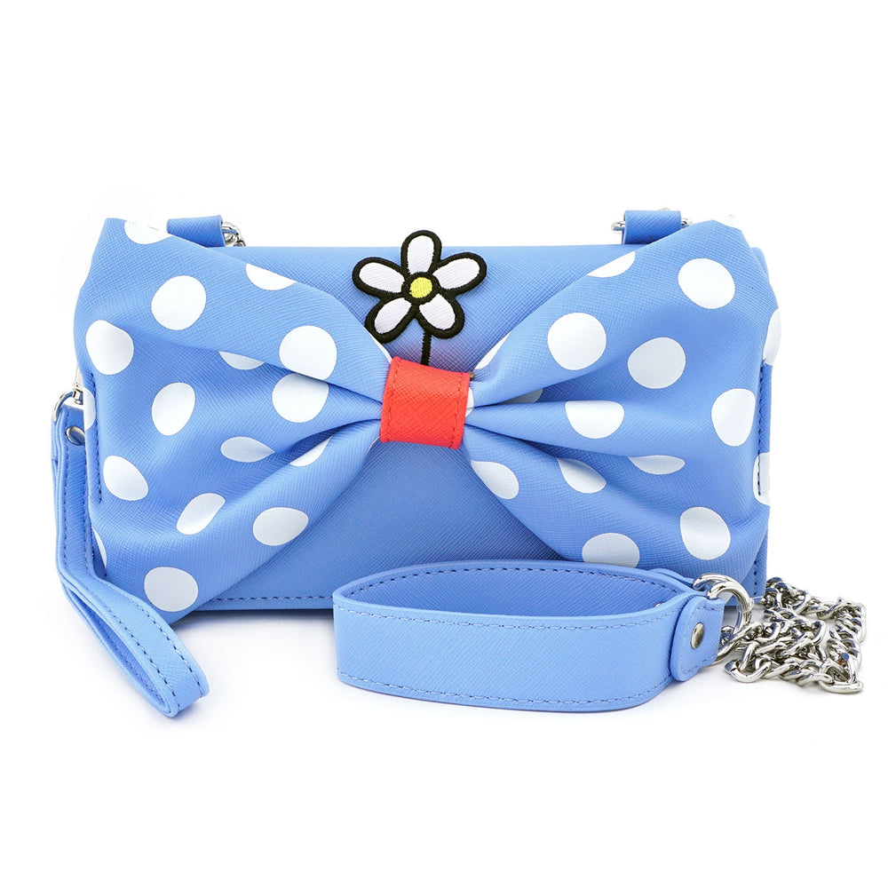 LOUNGEFLY X DISNEY POSITIVELY MINNIE POLKA DOT CROSS BODY WRISTLET-zoom