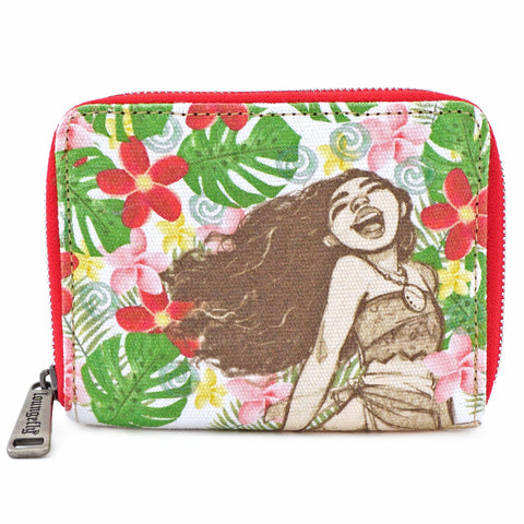 Loungefly Moana Floral Zip Around Wallet