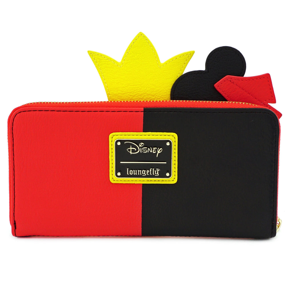 LOUNGEFLY X DISNEY QUEEN OF HEARTS COSPLAY ZIP AROUND WALLET-zoom