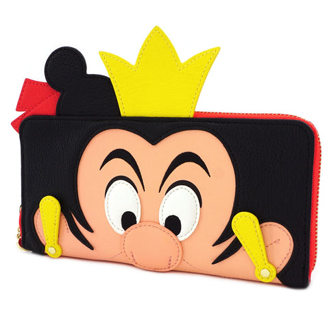LOUNGEFLY X DISNEY QUEEN OF HEARTS COSPLAY ZIP AROUND WALLET