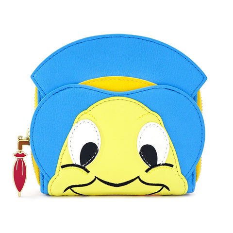 LOUNGEFLY X DISNEY PINOCCHIO JIMINY CRICKET ZIP AROUND WALLET