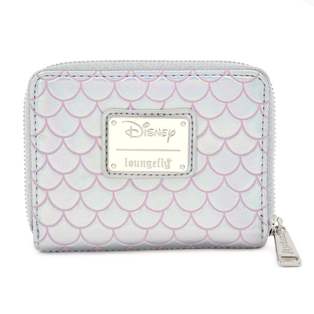 LOUNGEFLY X DISNEY THE LITTLE MERMAID 30TH ANNIVERSARY PEARL ZIP AROUND WALLET-zoom