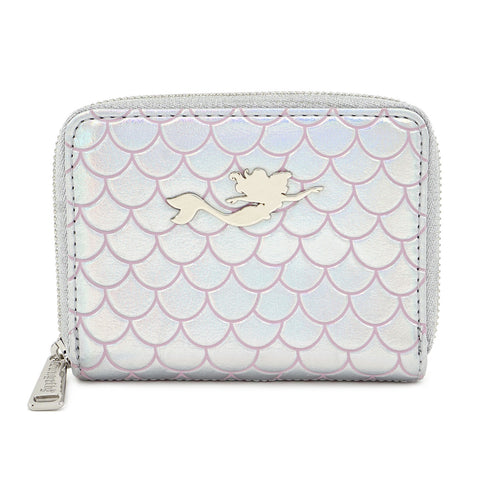 LOUNGEFLY X DISNEY THE LITTLE MERMAID 30TH ANNIVERSARY PEARL ZIP AROUND WALLET