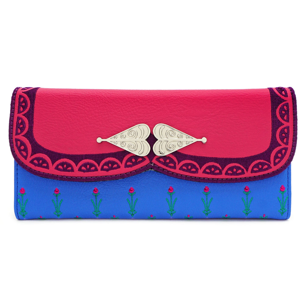 LOUNGEFLY X DISNEY FROZEN ANNA COSPLAY TRI-FOLD WALLET-zoom