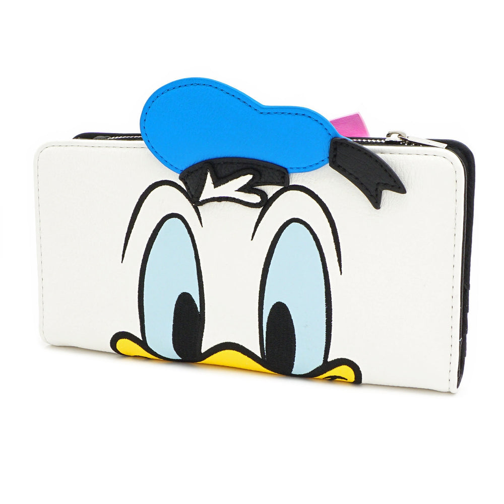 LOUNGEFLY X DISNEY DONALD AND DAISY DOUBLE SIDED WALLET-zoom