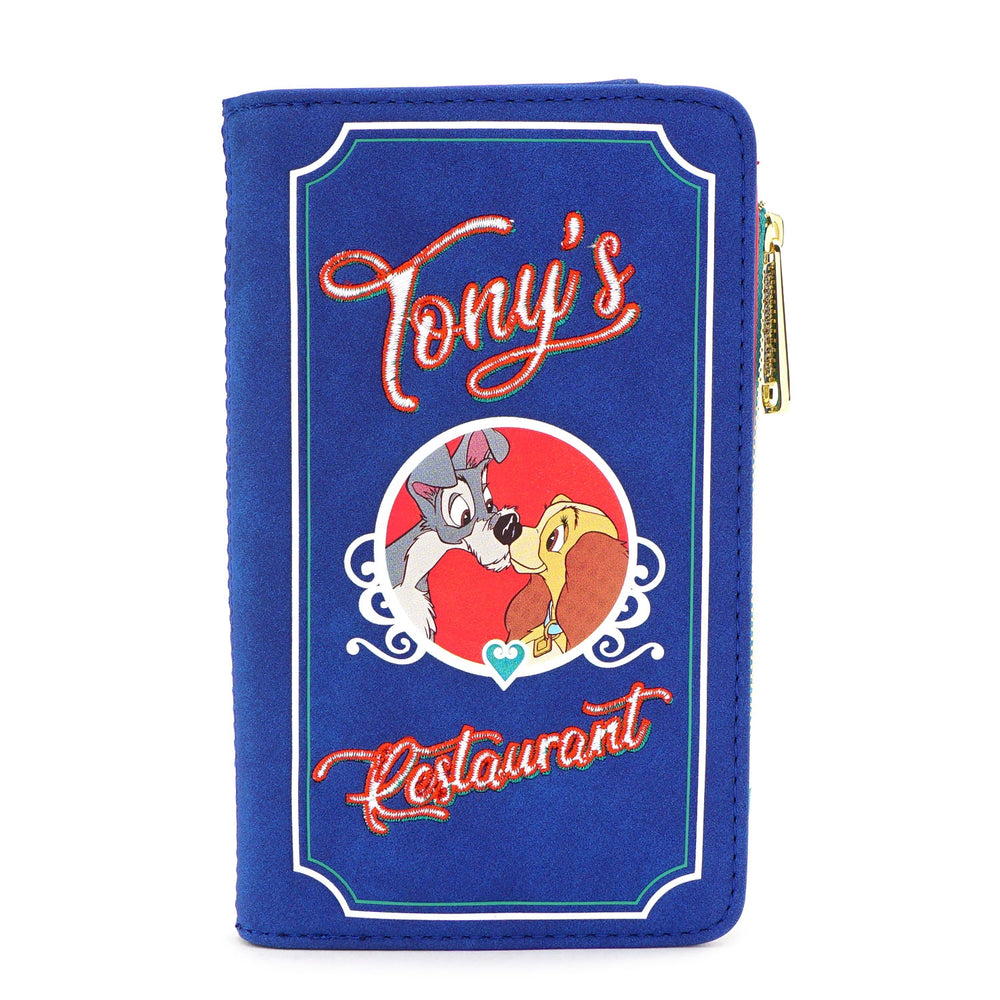 LOUNGEFLY X DISNEY LADY AND THE TRAMP TONY'S MENU BI-FOLD WALLET-zoom