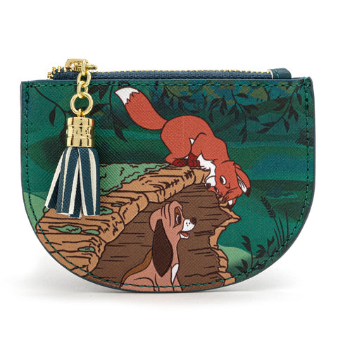 LOUNGEFLY X DISNEY THE FOX AND THE HOUND PEEKABOO LOG CARD HOLDER