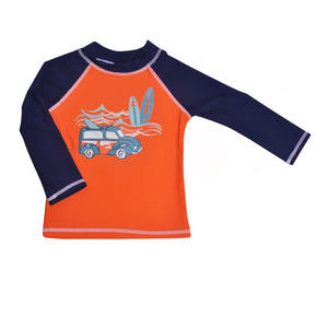 Graphic Rash Guard Swim Top | Kona Bay