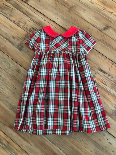 Sophie and Lucas - Plaid Dress with Red Sash