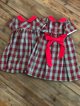 Load image into Gallery viewer, Sophie and Lucas - Plaid Dress with Red Sash