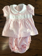Load image into Gallery viewer, Magnolia Baby Cora and Cole Classics Smocked Collared Dress and Diaper Cover