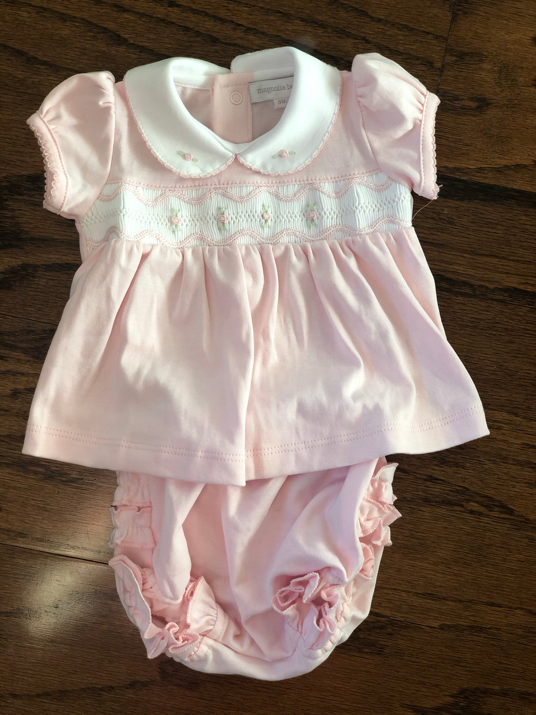 Magnolia Baby Cora and Cole Classics Smocked Collared Dress and Diaper Cover