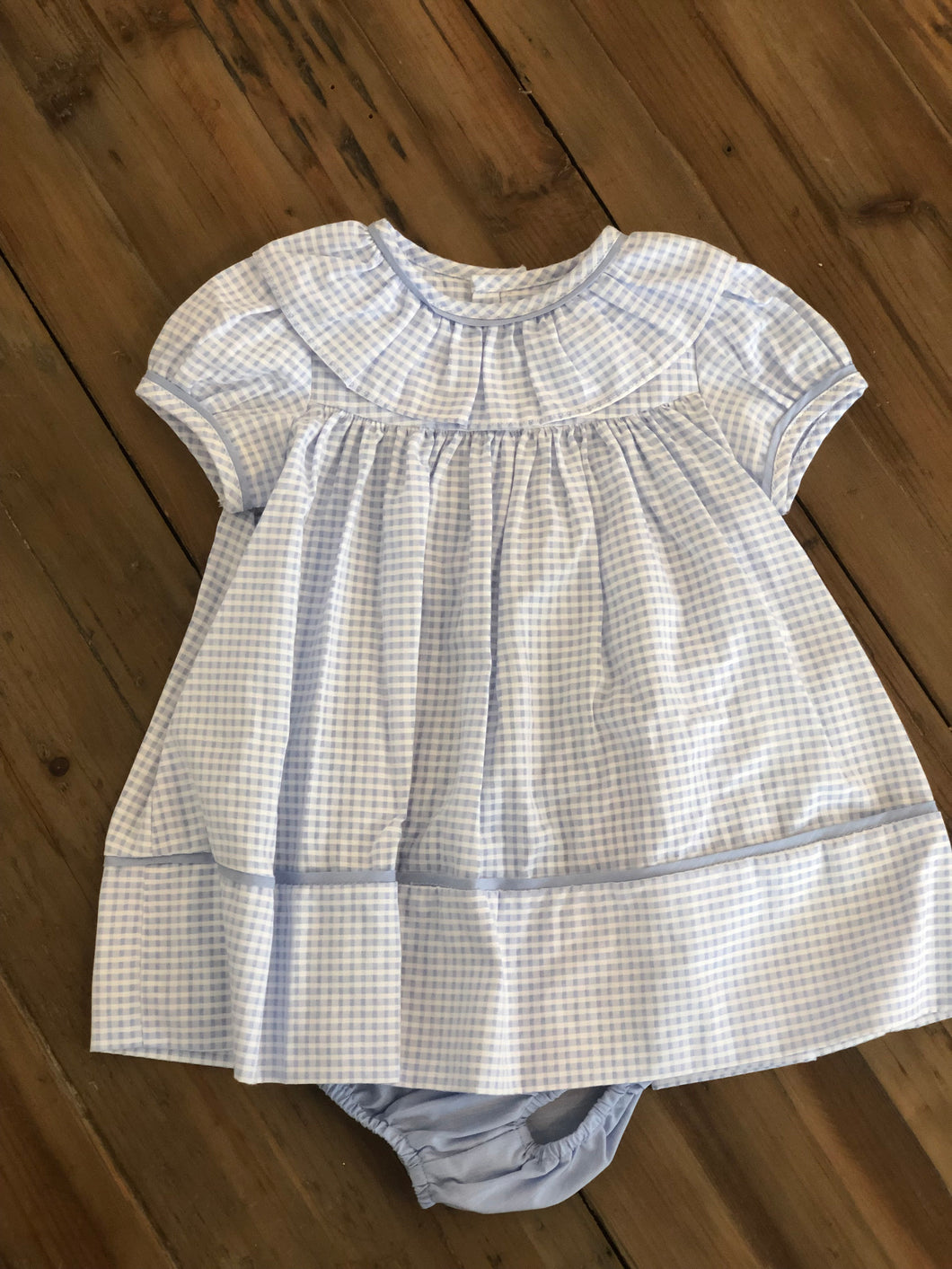 Sophie & Lucas Coastal Check Dress