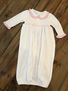 Magnolia Baby Classic Embroidered Gown - Pink