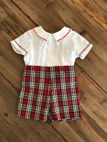 Sophie & Lucas - Plaid 2 Piece Set