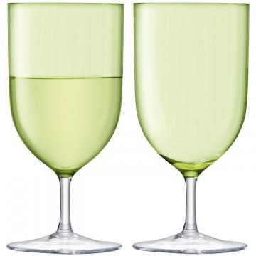 Hint Water/Wine Lime Glasses
