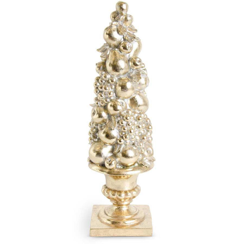 Antiqued Gold Fruit Tree Topiary