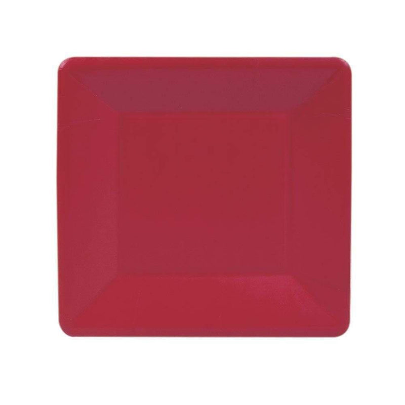 Red Square Paper Salad & Dessert Plates