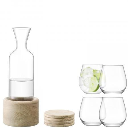 Wine / Water Carafe with Glasses & Coasters