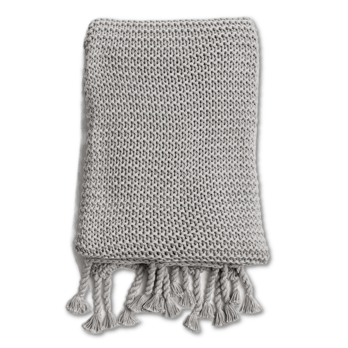Stone Comfy Knit Throw