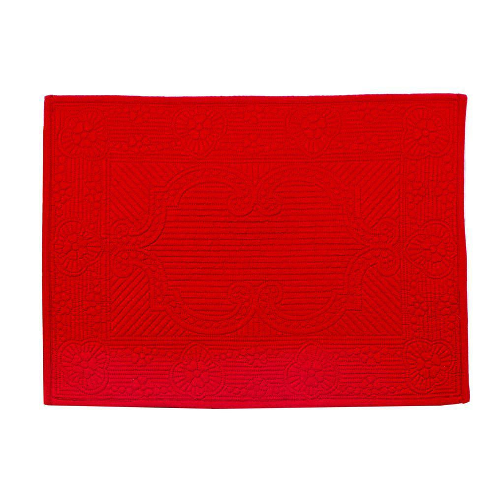Villa Red Quilted Placemat