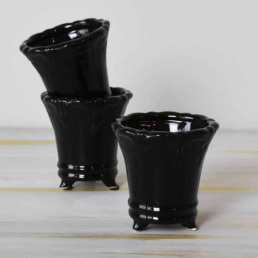 Mini Black Ceramic Urn