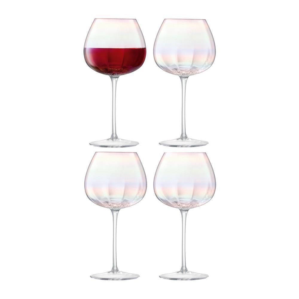 Pearl Red Wine Glass Set
