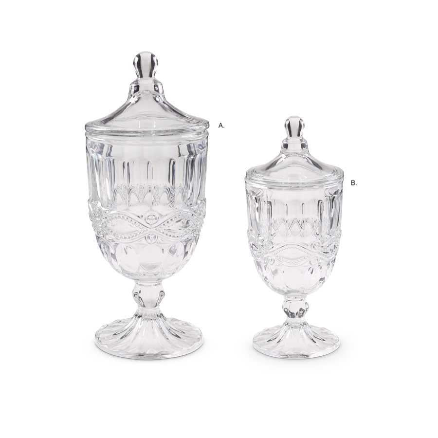 Lidded Glass Urns