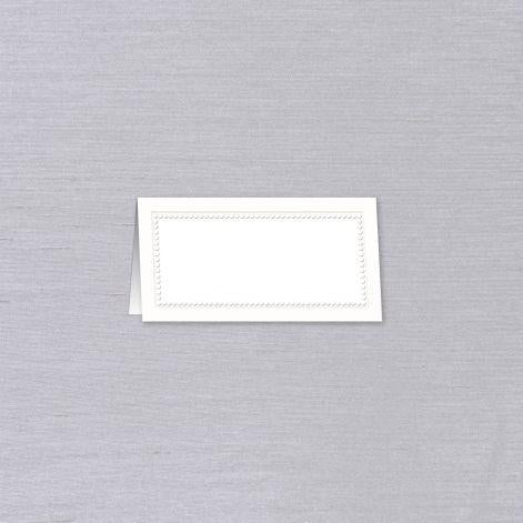 White Bead Border Place Cards