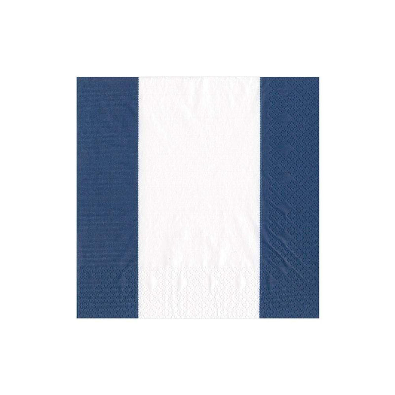 Bandol Stripe Navy Cocktail Napkin