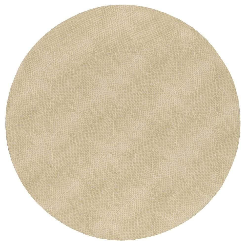 Ivory Snakeskin Round Placemat