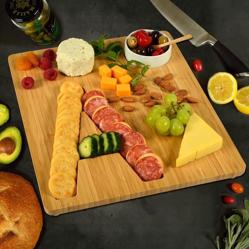 Bamboo Monogram Cheese/Charcuterie Board
