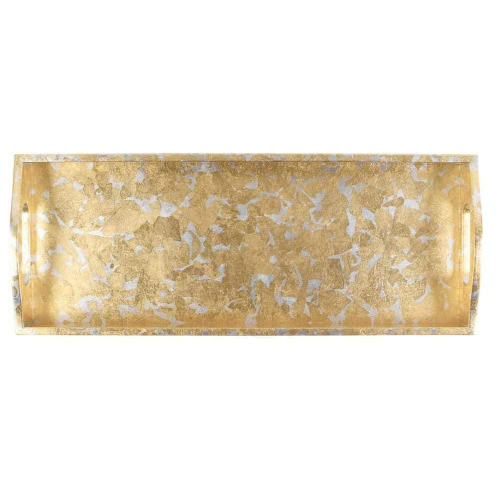 Gold and Silver Leaf Bar Tray