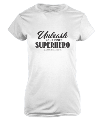 Graphic Tee, Unleash Your Inner Superhero (white)