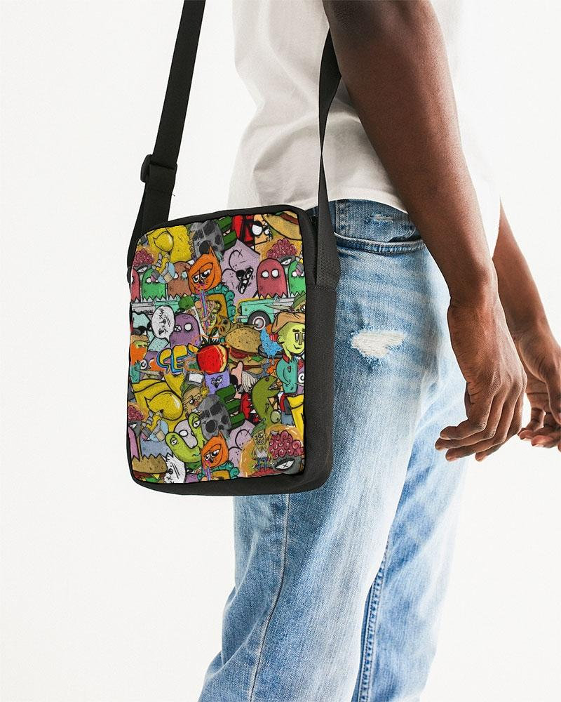 accessories Universal Crowded Street Messenger Pouch