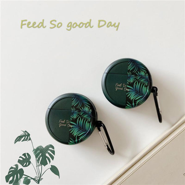 Airpods Case Banana leaf / FreeBuds3 English Green Leaf Huawei Bluetooth Wireless Earphone Case