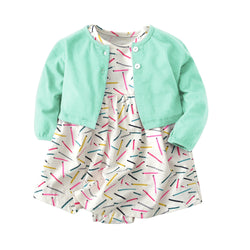 Baby Clothing Sets 18M Child suit, sweater dress