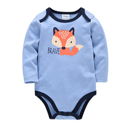 Baby Clothing Sets Fox / 0 3m INFANT BODYSUIT LONG SLEEVE baby dress Khaki