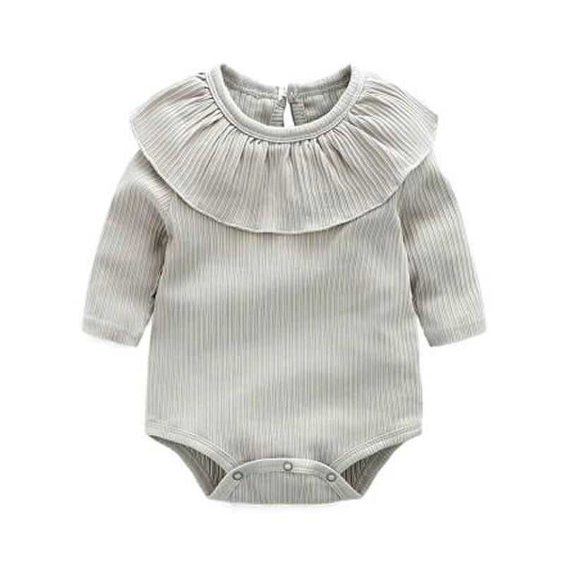 Baby Clothing Sets Gray / 90cm Newborn Baby Girl Long Sleeves Romper