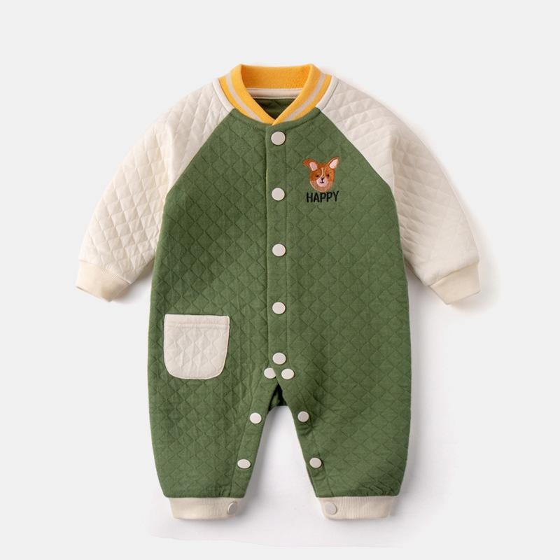 Baby Clothing Sets Green / 73cm Baby one-piece spring and autumn air cotton one-piece