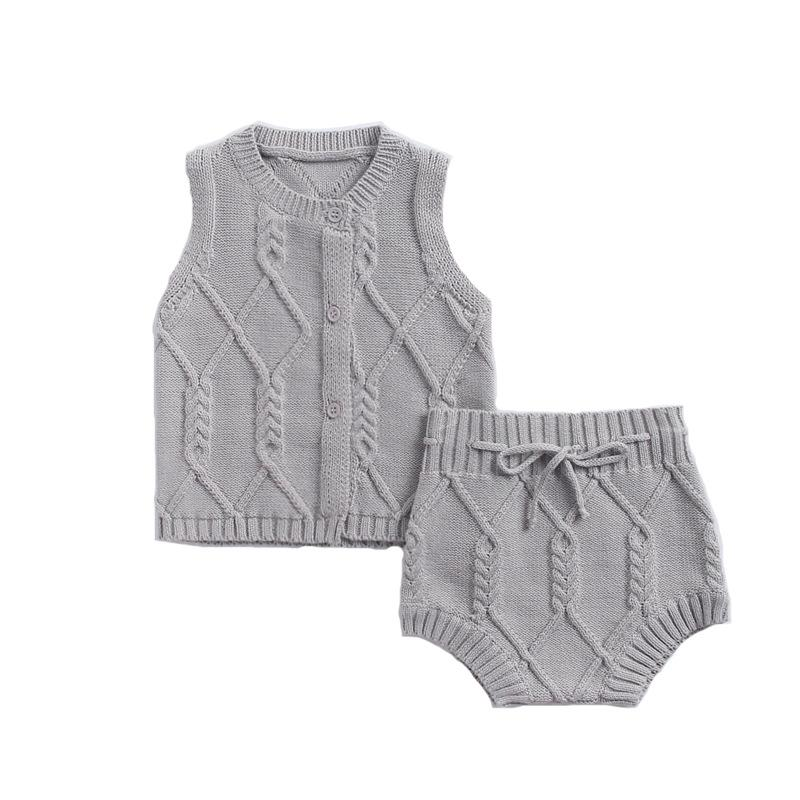 Baby Clothing Sets Newborn suit cotton knitted twist vest