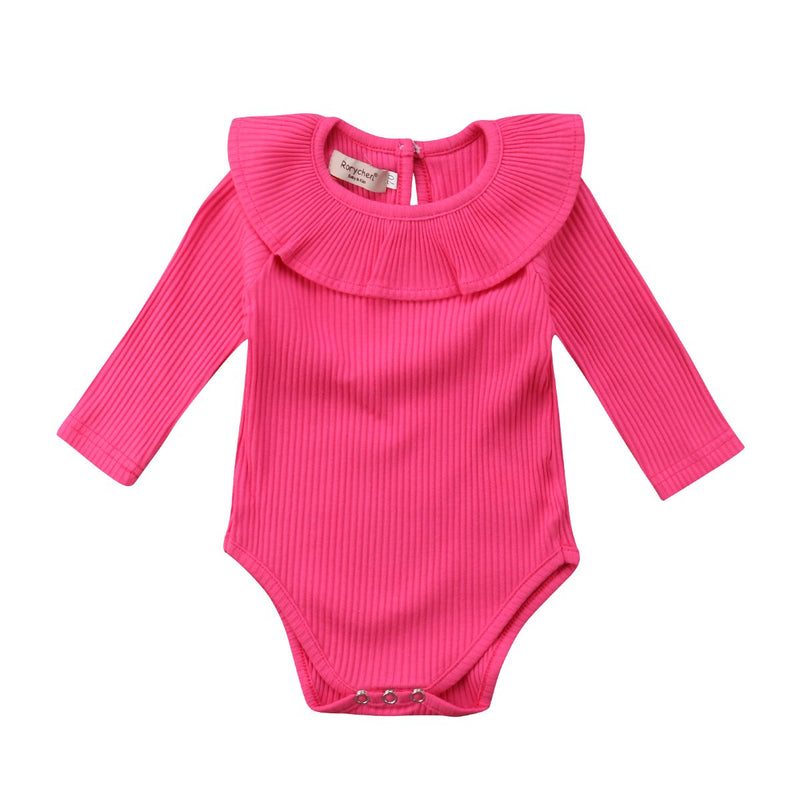 Baby Clothing Sets Rose Red / 80cm Newborn Baby Girl Long Sleeves Romper