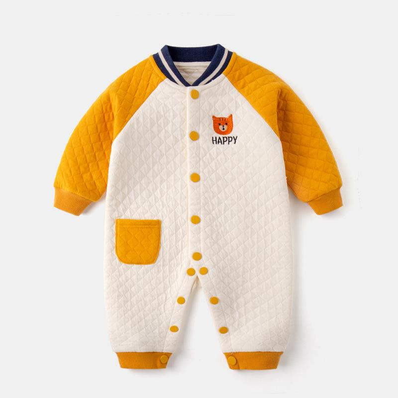 Baby Clothing Sets Yellow / 66cm Baby one-piece spring and autumn air cotton one-piece