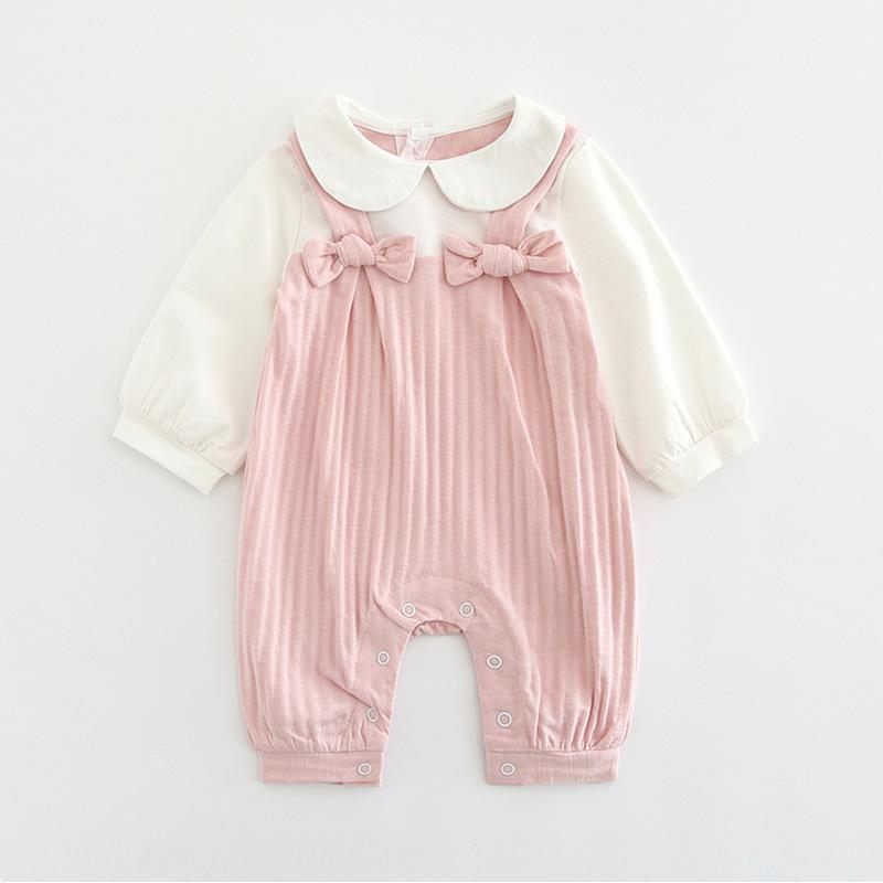 Baby Rompers Pink / 66cm Baby embroidered jumpsuit