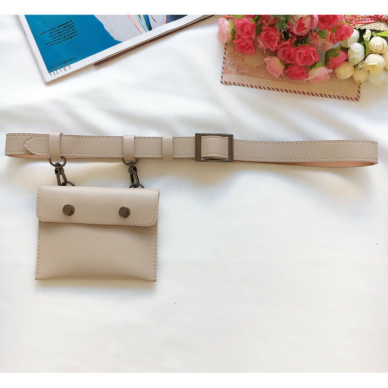 Bags White / 102CM Pack fashion belt