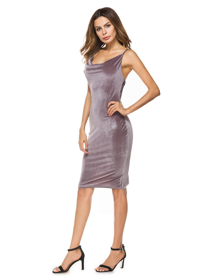 Dresses Brown / M sexy women's cocktail party dress
