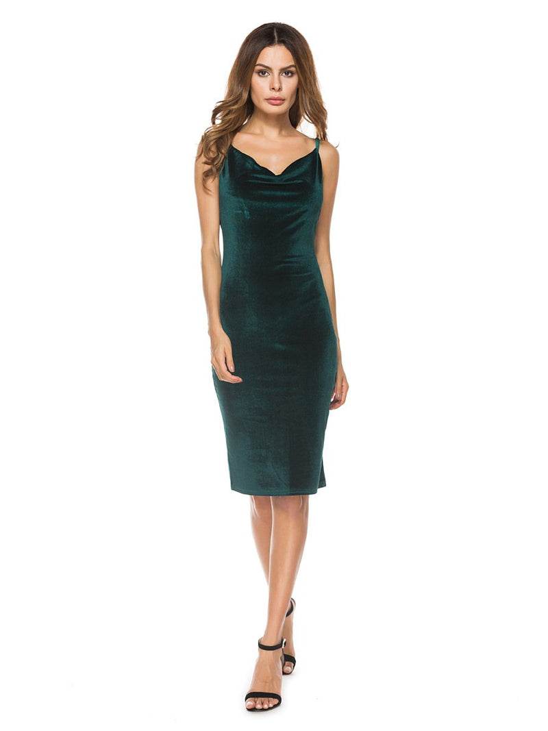 Dresses Dark green / L sexy women's cocktail party dress