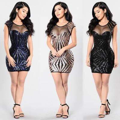 Dresses explosion mesh sequined dress
